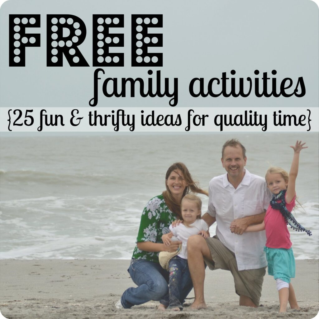 Free Family Activities | 31 Days of Living Well & Spending Zero | Family Games | Chore Cards | Movie Date Night | DIY Playdoh