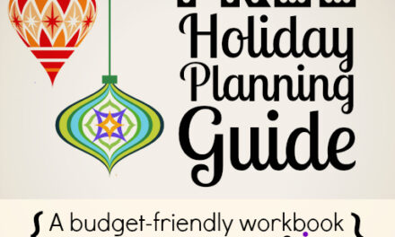 Plan for the Holidays {Day 30}