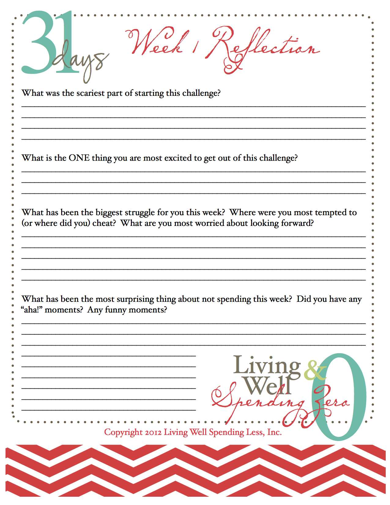 Uncategorized Reflections Worksheet week 1 reflection day 7 living well spending