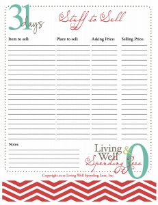 Downloadable selling worksheet