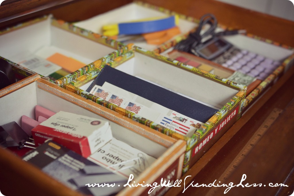 Organize your home office day 11 living well spending - How to organize your desk at home ...