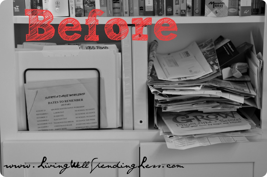 Organize your home office day 11 living well spending - How to organize an office desk ...