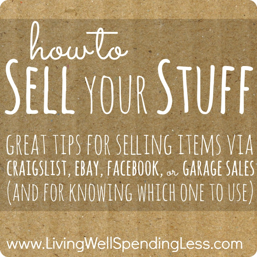 Living Well Spending Less: Printable Sell Your Stuff List