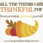 All the things I'm thankful for {free gratitude journal} #thanksgiving #kids