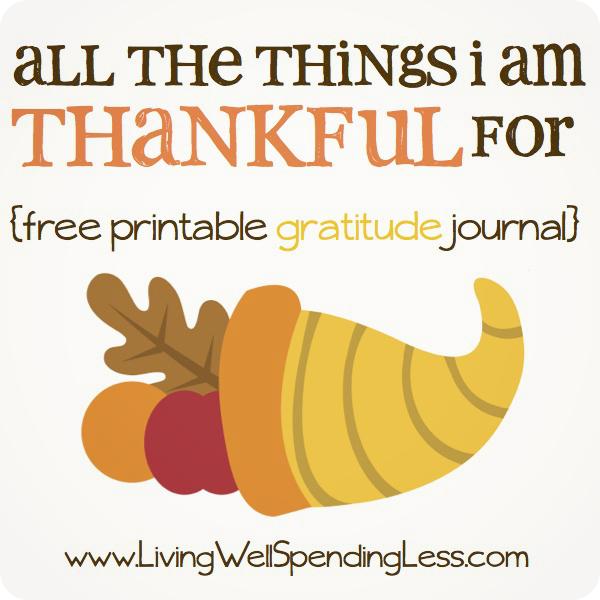 ... things I'm thankful for {free gratitude journal} #thanksgiving #kids