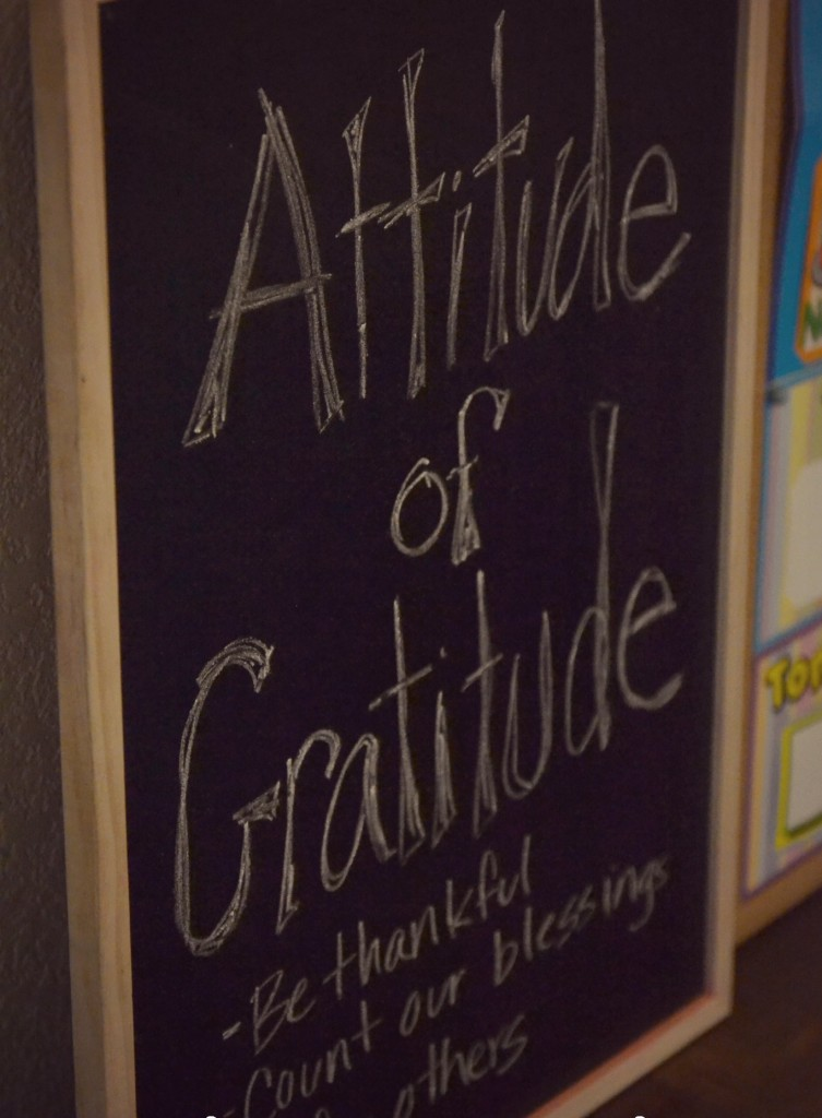 Embrace and attitude of gratitude to get you through the holiday season
