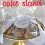 Need an easy, inexpensive gift idea for teachers, neighbors, or friends? These DIY Cake Stands are a snap to make using an inexpensive decorative plate and a dollar store candlestick.