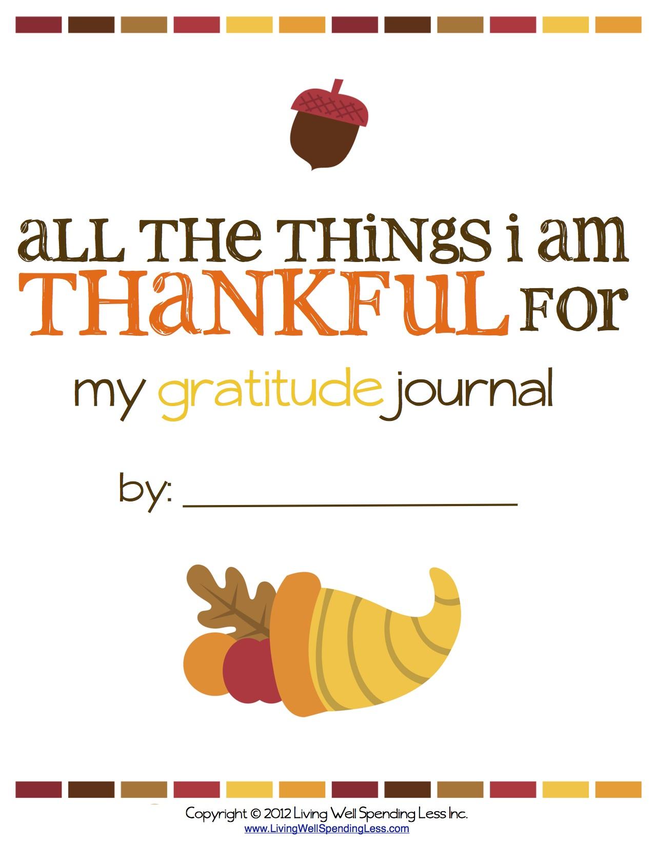 FREE Printable Gratitude Journal | Gratitude Journal Printable | Free Gratitude Journal PDF