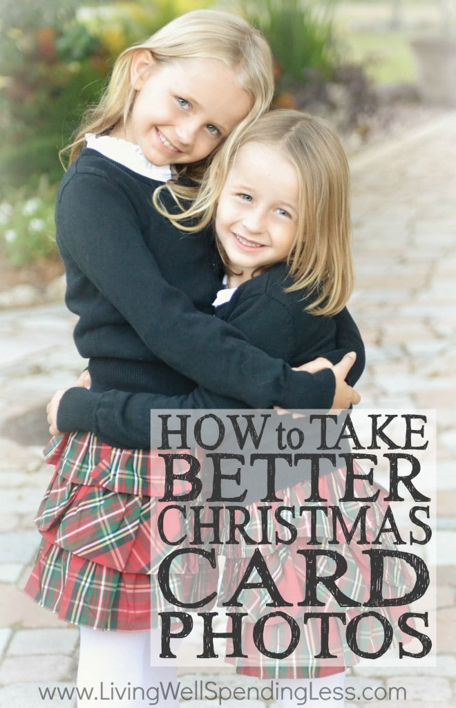 How to Take Better Christmas Card Photos Vertical
