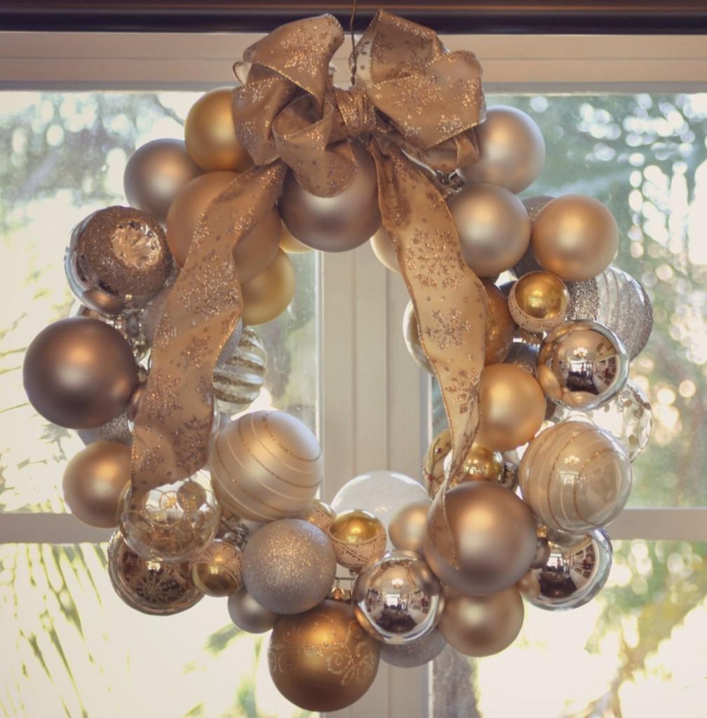 DIY Ornament Wreath | DIY Christmas Ornament Wreath | Easy Ornament Wreath | Diy Christmas Decor