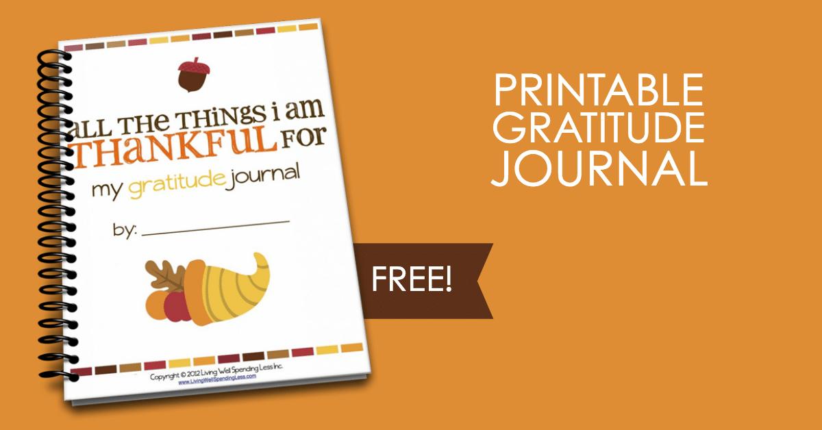 Gratitude journal printable