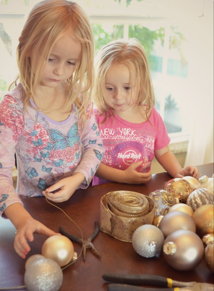Kids will enjoy helping out with creating Christmas decor for your home.