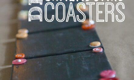 DIY Chalkboard Coaster Set