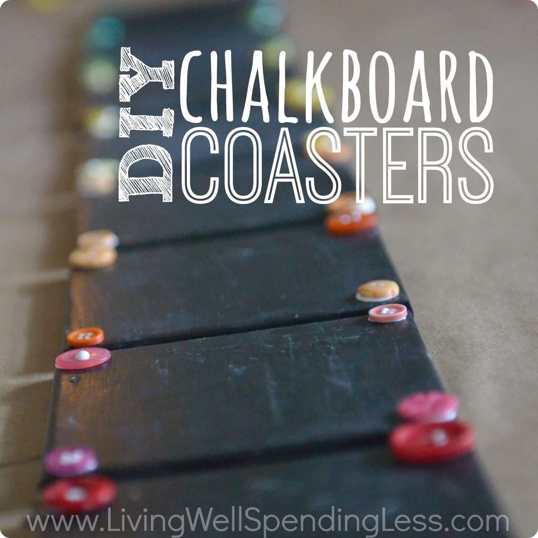DIY Chalkboard Coaster Set Living