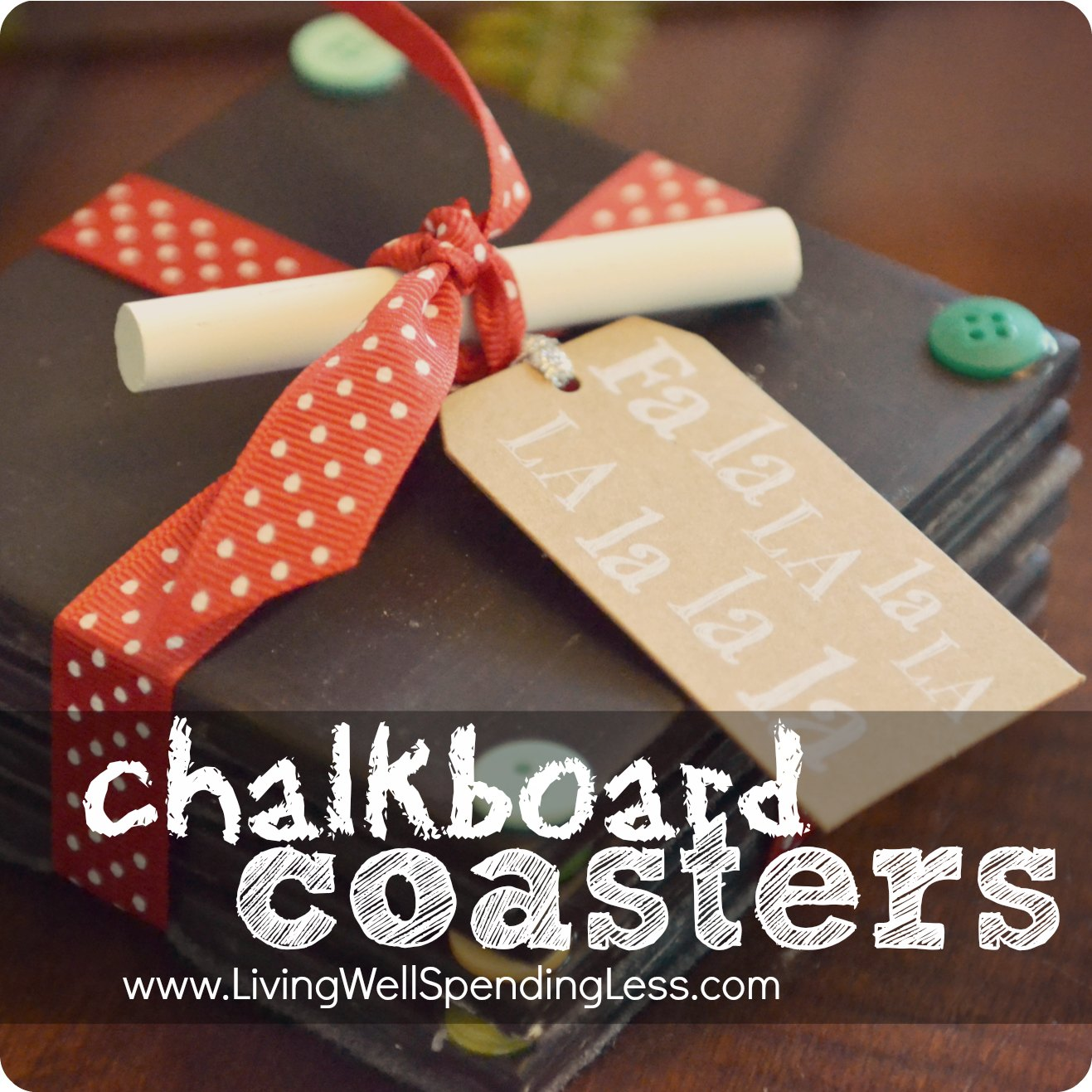 DiY Chalkboard Coasters-super Cute Handmade Gift Idea