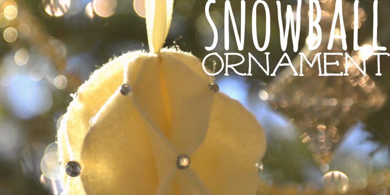 DIY Felt Snowball Ornament