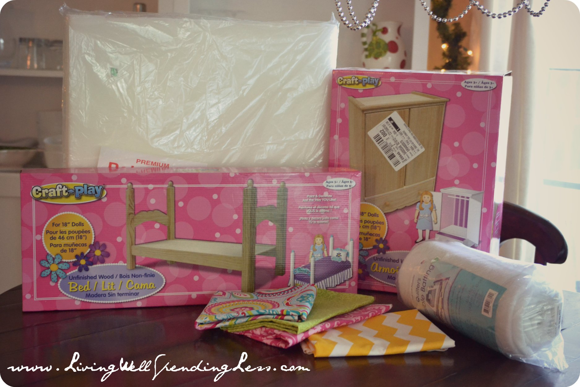 DiY American Girl Doll Bed, Part 2 - Living Well Spending ...