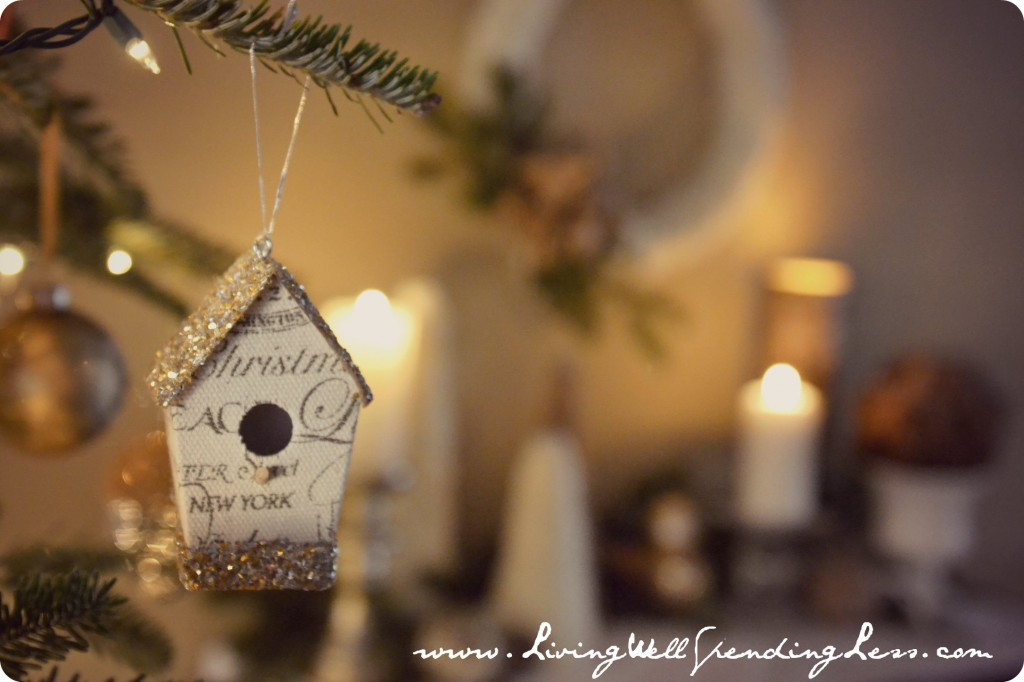 Birdhouse Christmas Ornament