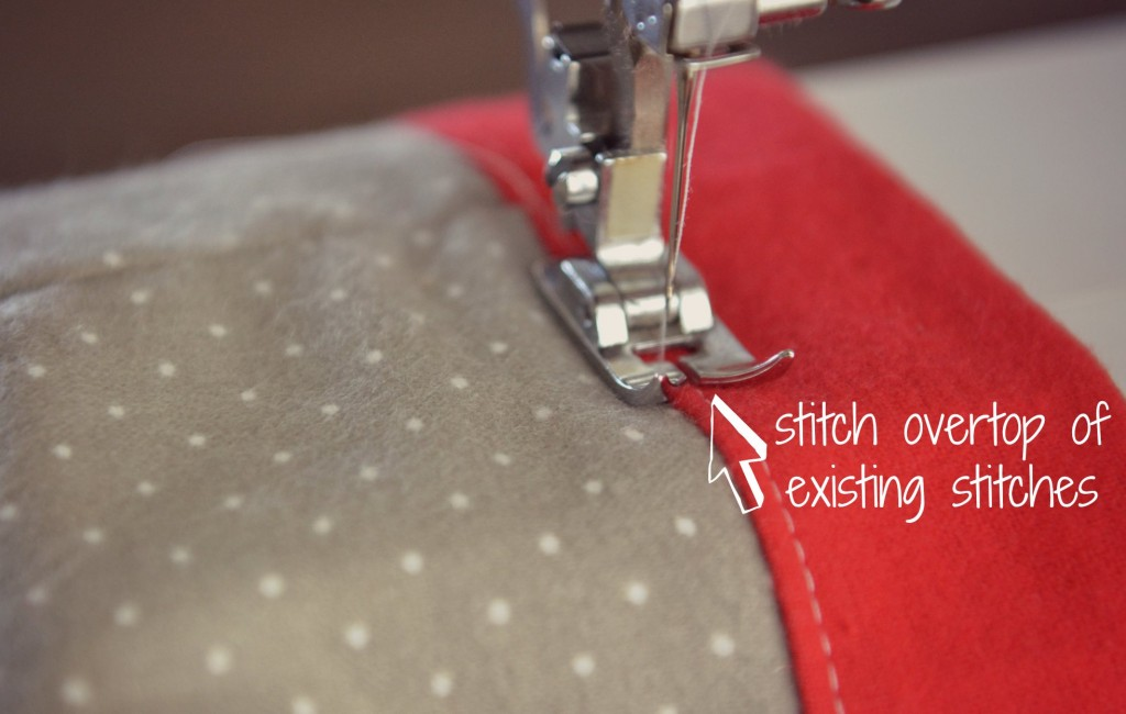 Stitch down the cuff of your pajama pant leg using your sewing machine.