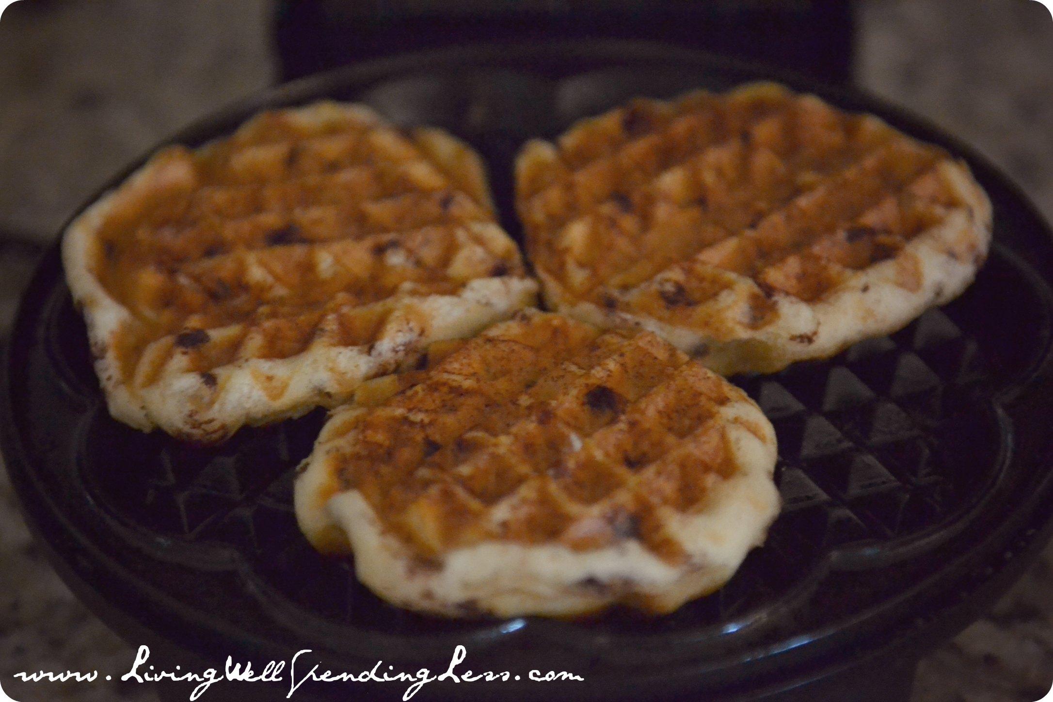 Recipe: Easy Cinnamon Roll Waffles with Creamy Maple Glaze