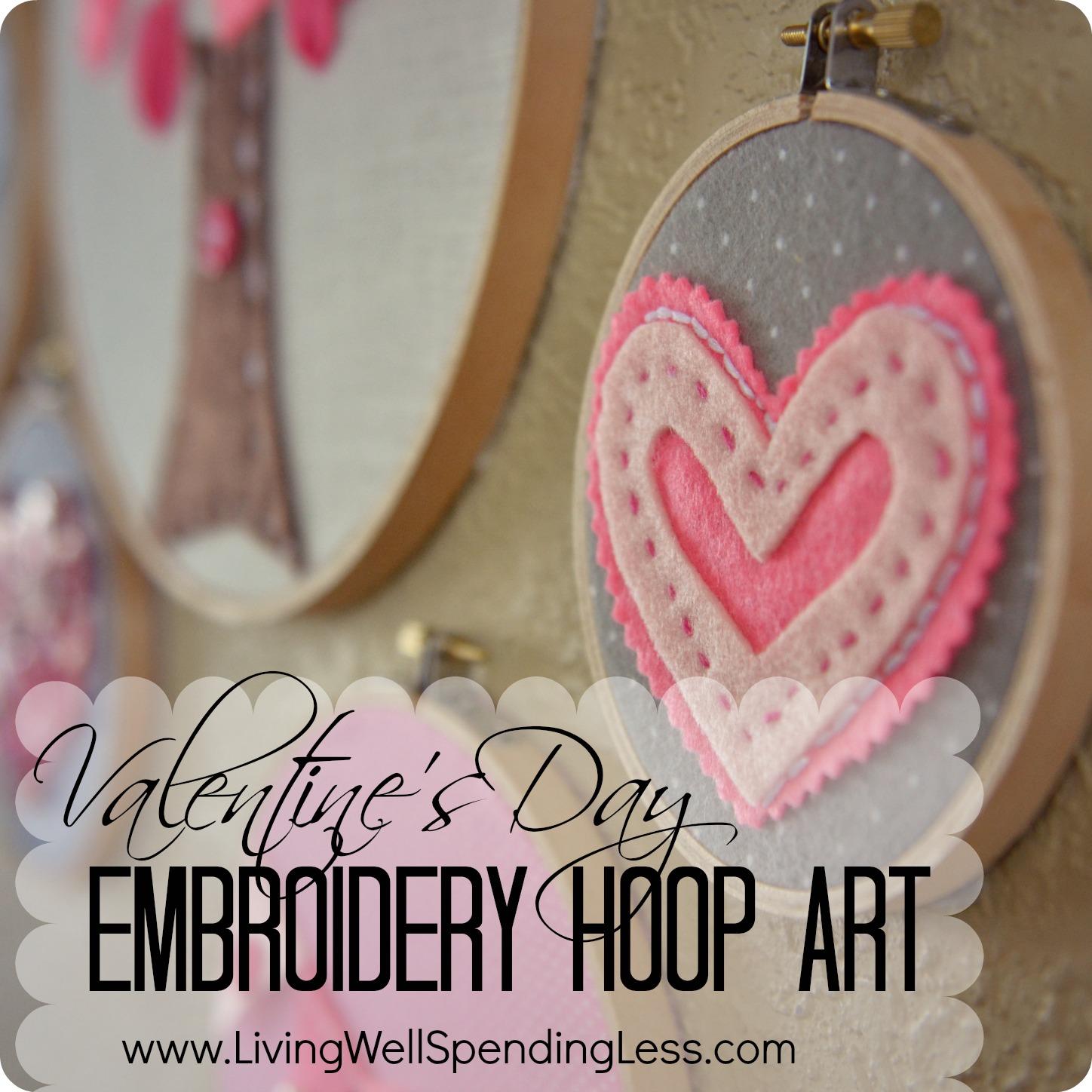 Easy valentine 39 s day embroidery hoop art super fun and for Cool things to do on valentine s day