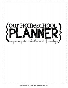 our homeschool planner | Free Printables | Free Planner Download | Homeschooling Tips | Homeschooling Hacks | Homeschool | Printable Planner | Study Plans | Study Tips | Education | Learning