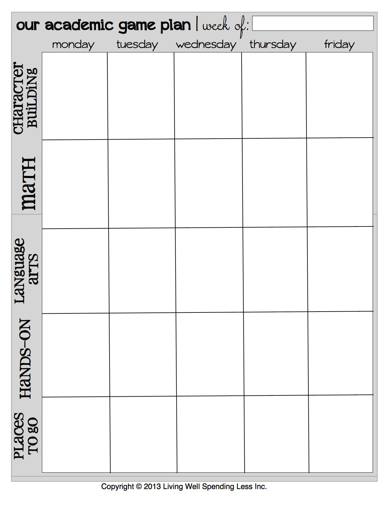 Homeschool Planner | Free Printables | Free Planner Download