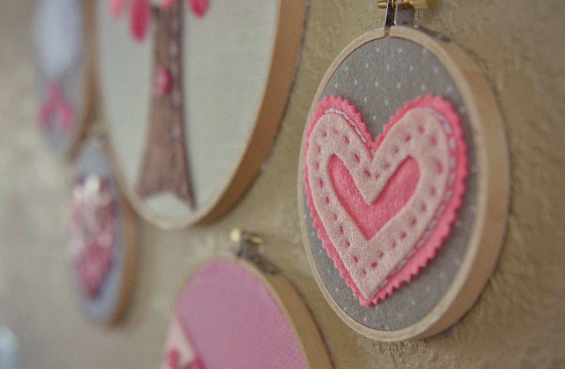 Valentines Day Embroidery Hoop Art Simple Embroidery