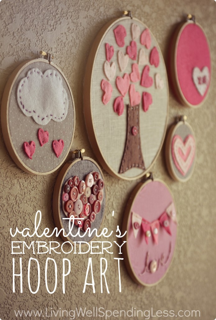 Valentine's Embroidery Hoop Art