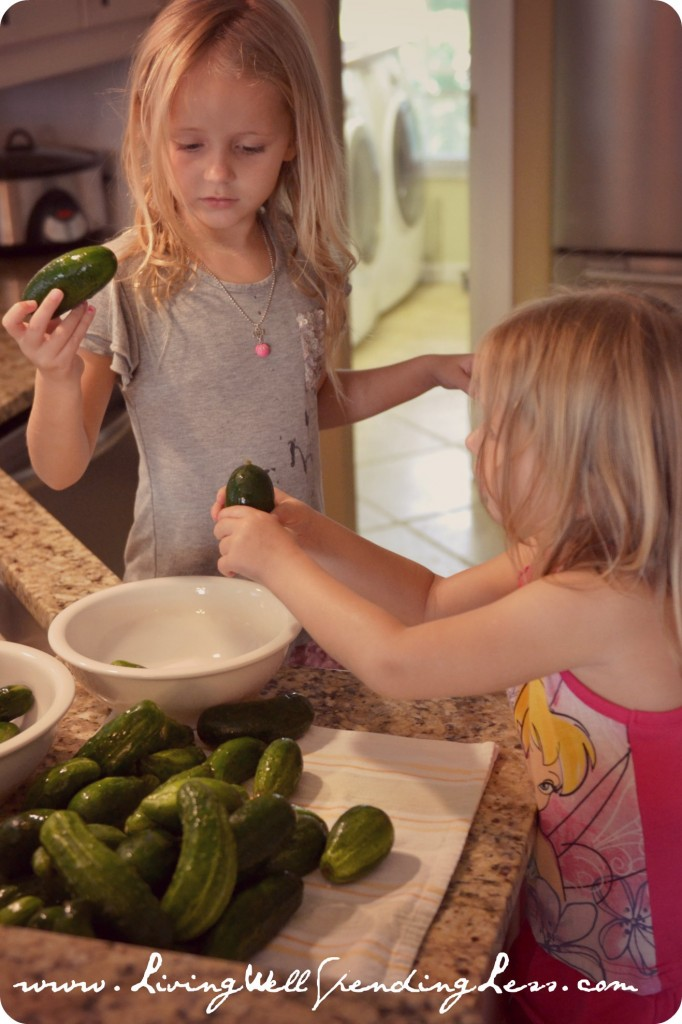 Homeschooling is all about including your children in your everyday activities like cooking.