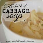 Cream of Cabbage Soup--great vegetarian recipe for St. Patrick's Day! #soup #cabbage #vegetarian