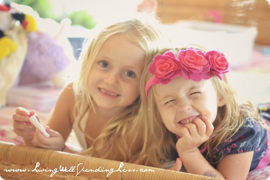 My daughters are happier and more content when their room is less messy and cluttered.