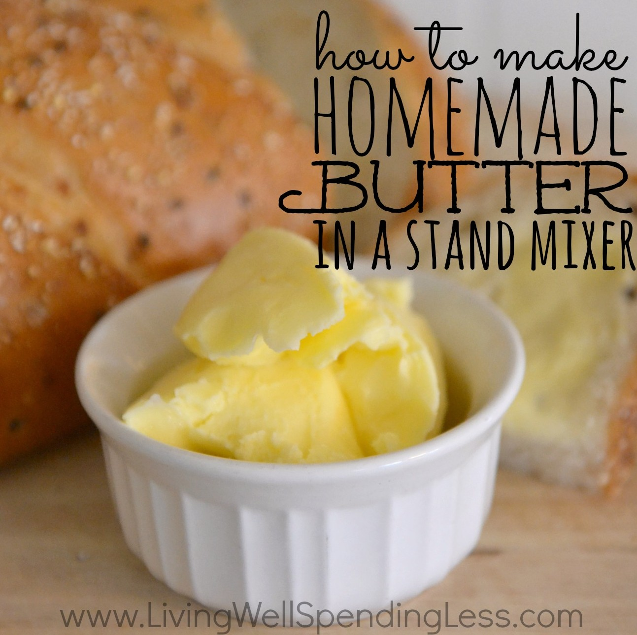 How to make homemade butter in a stand mixer. I seriously cannot ...