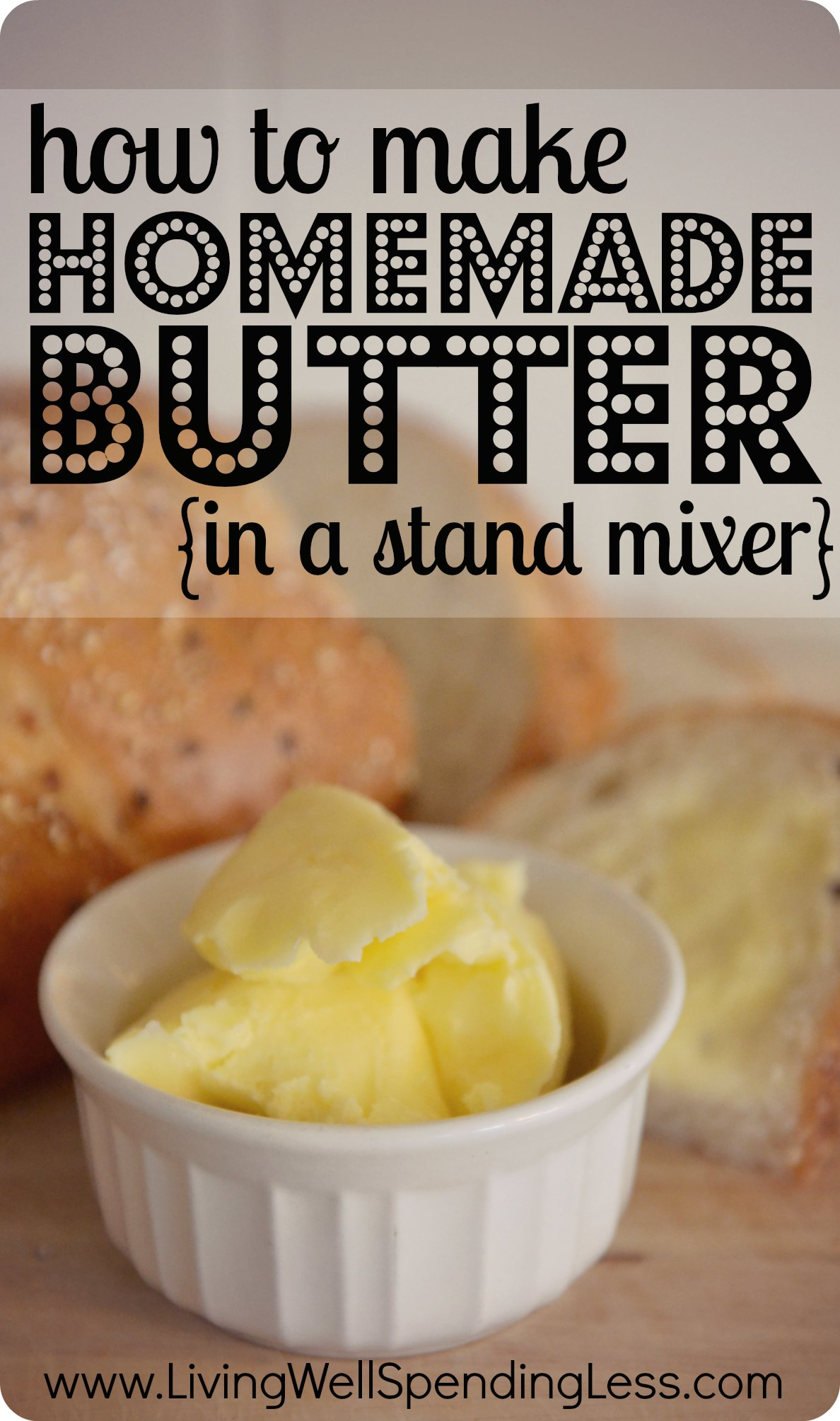 How-to-make-homemade-butter-in-a-stand-mixer.-I-cant-believe-how-easy ...