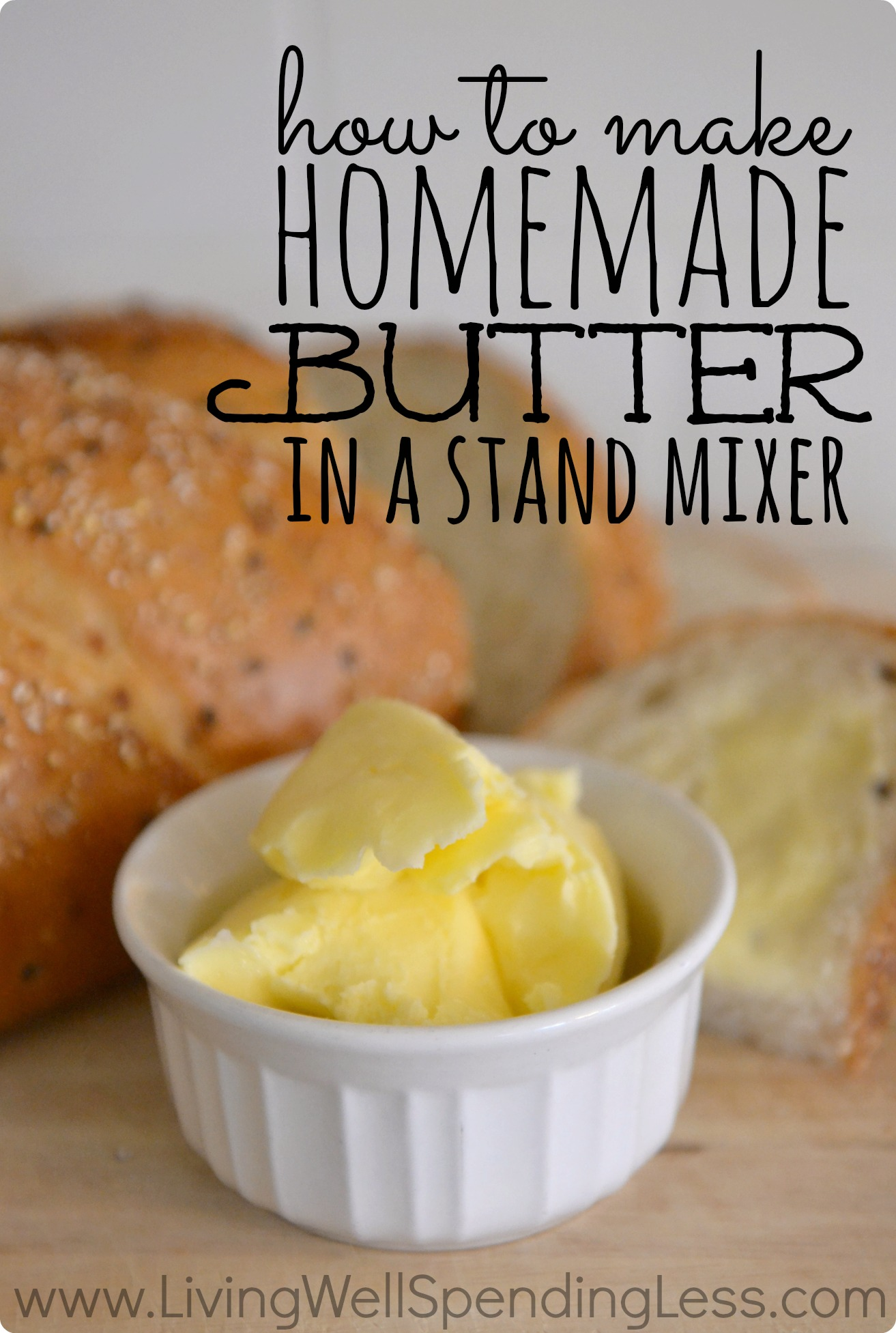 How to make homemade butter in a stand mixer – Living Well Spending ...