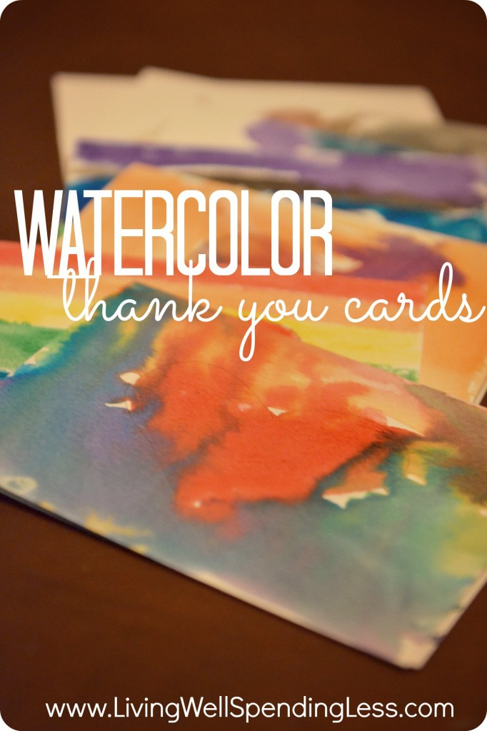 Creating your own DIY watercolor thank you cards adds a personal touch!