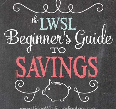 The Beginner's Guide to Savings: Week Eight