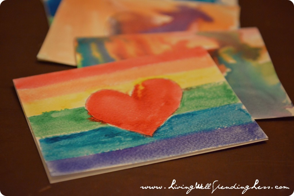 Let your creative side free when making your DIY watercolor thank you cards!