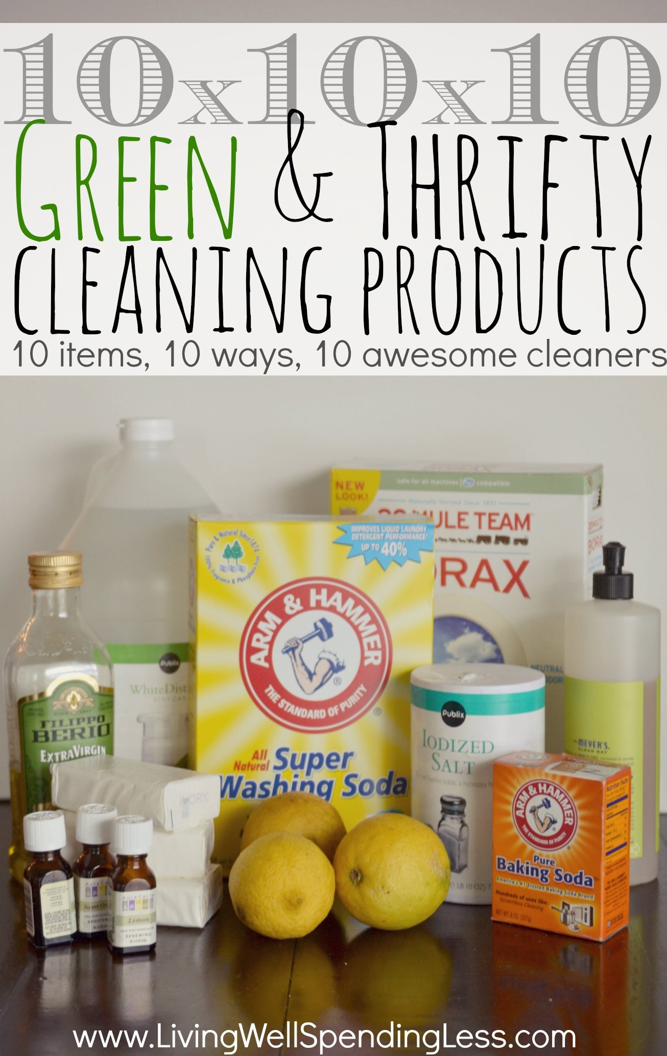 10x10x10 Green & Thrifty Cleaning Products-this is really cool ...