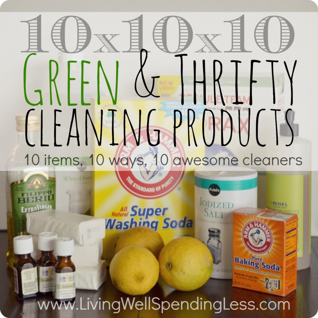 10x10x10 green & thrifty cleaning products square