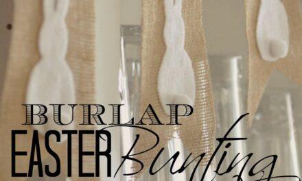 No-Sew Burlap & Bunny Bunting