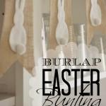 vNo-Sew Burlap & Bunny Bunting | Handmade Burlap & Bunny Bunting | Diy Burlap & Bunny Bunting | Bunting Ideas | Free Printable Bunting Template