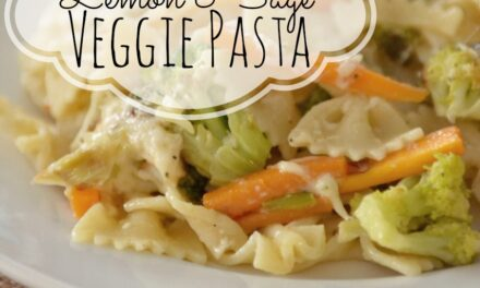 Fresh Lemon & Sage Veggie Pasta