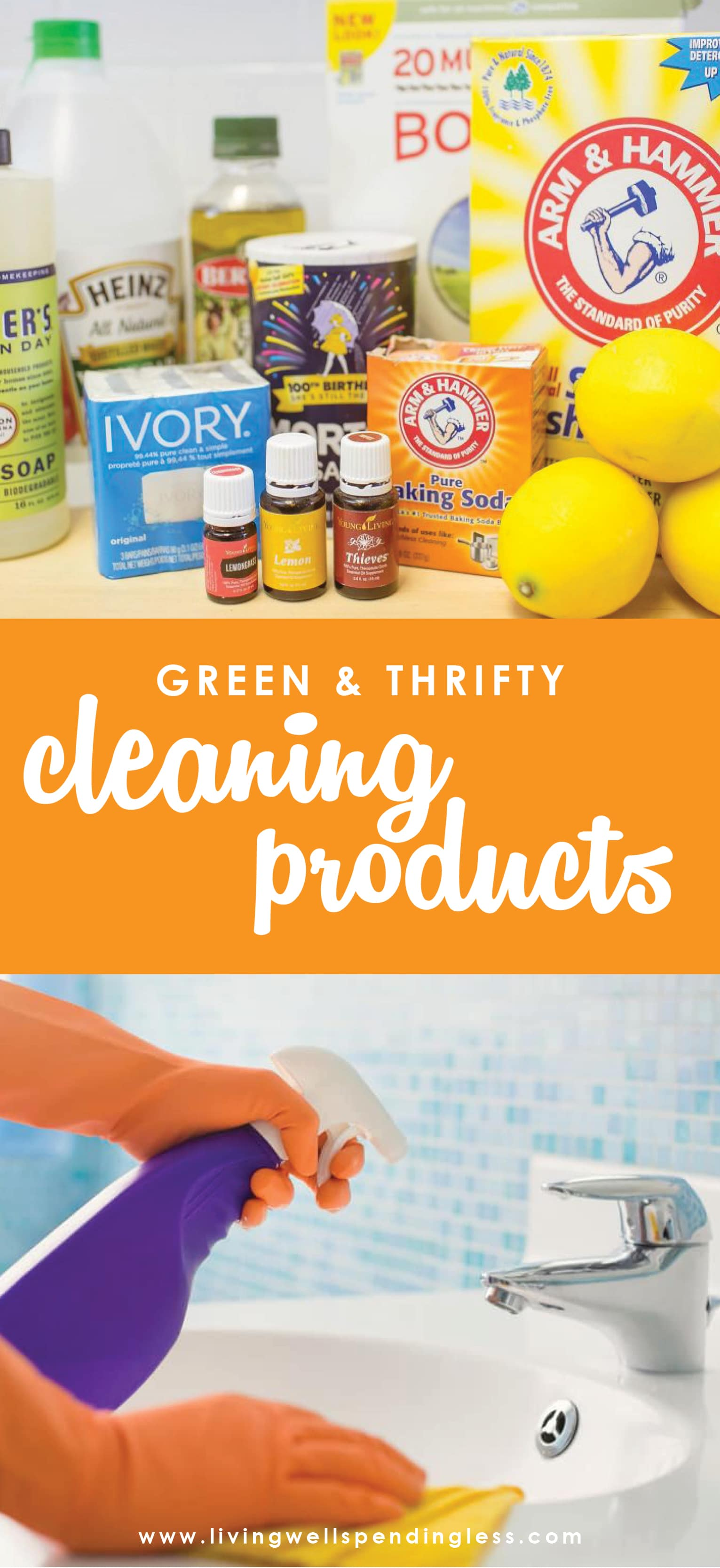Did you know just 10 pantry staples combined 10 different ways can create 10 awesome homemade cleaners that will clean almost every surface in your house? Better yet? You probably even have most of them already on hand! There's even a cute cheat sheet to print out for your laundry room!  Green & Thrifty Cleaning Products | DIY Cleaning Products | Cleaning Ideas