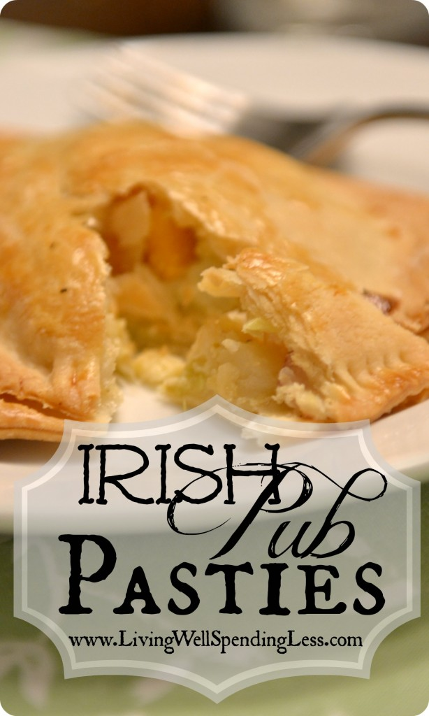 Irish Pub Pasties | Vegetarian | Healthy Food | St. Patrick's Day Food Ideas | Pary Food Ideas | Easy Pastry Recipes | Traditional Irish Pasties | Pasty Recipe