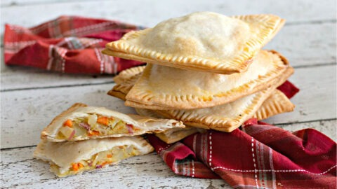 These Irish Pub Pasties are the perfect treat for St. Patrick's Day. They are delicious and an easy-to-make recipe, that is for sure gonna be a crowd pleaser! The best part is they are completely customizable so they can be made with meat, vegan, or vegetarian.