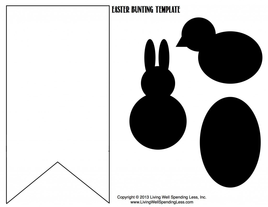 LWSL Easter Bunting Template