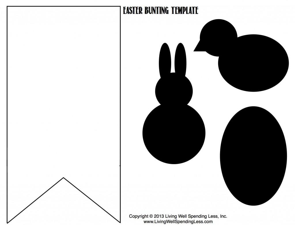 No-Sew Burlap & Bunny Bunting | Handmade Burlap & Bunny Bunting | Diy Burlap & Bunny Bunting | Bunting Ideas | Free Printable Bunting Template