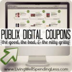 Publix Digital Coupons {the good, the bad, & the nitty gritty} #Publix #coupons #extremecouponing
