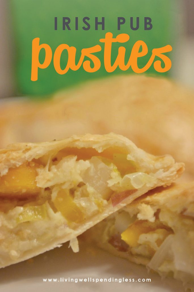 These Irish Pub Pasties are the perfect treat for St. Patrick's day. They are delicious and an easy-to-make recipe, that is for sure gonna be a crowd pleaser!
